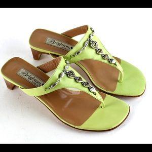 New Brighton Kelley Lime Low Heel Sandals
